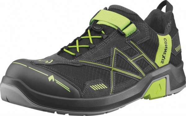 HAIX ESD Sicherheits-Halbschuh S1, Connexis Safety T Low 630001, grey/citrus, Gr. 6-12
