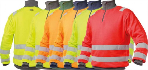 Dassy Warnschutz Sweatshirt Denver, EN 20471, 65%PES/35%BW-280g/m², #VarInfo