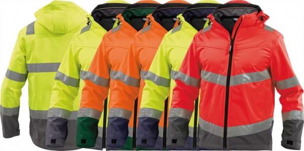 Dassy Warnschutz Softshell Jacke Malaga, EN 20471, 100%PES-280g/m², #VarInfo