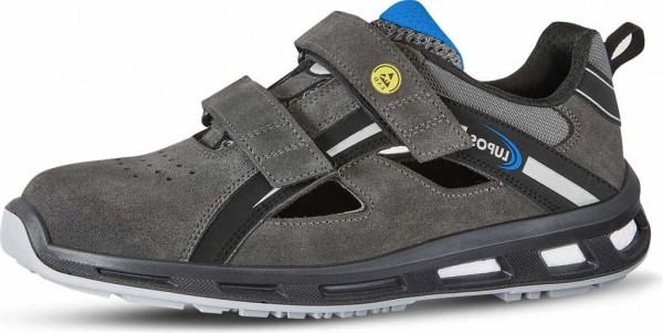 Lupos ESD Sicherheits-Sandale S1P, Logan LI30066, Weite 11, Gr. 35-47